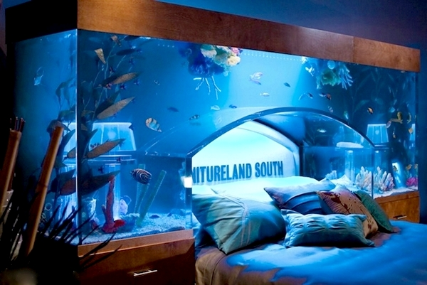 Аквариум над кроватью